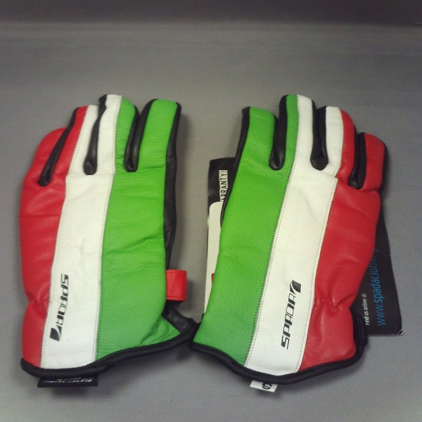Spada Leather Gloves Fifty2 Italia Black & Red & Green & White Ladies