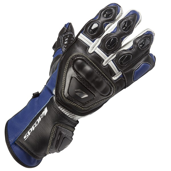 Spada Leather Gloves Curve Blue