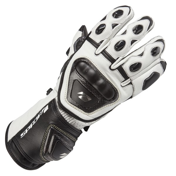 Spada Curve Leather Gloves White