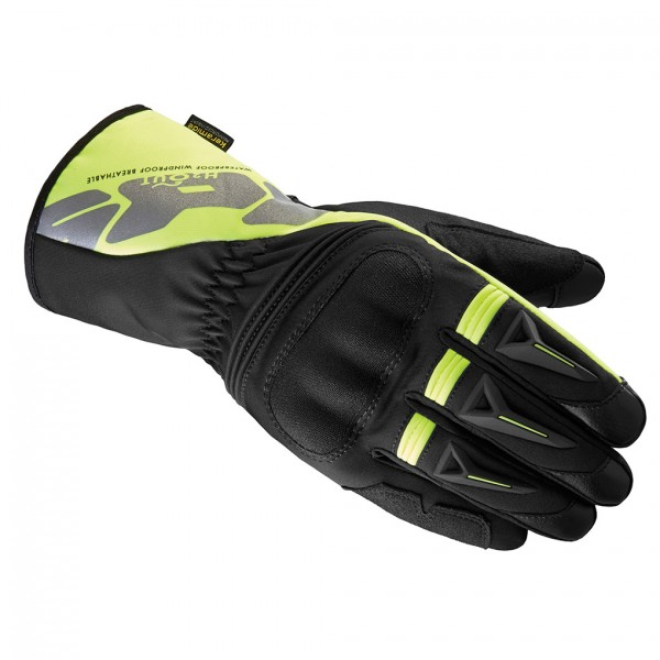 Spidi Gb Alu-Pro Wp Leather Gloves Black & Yellow