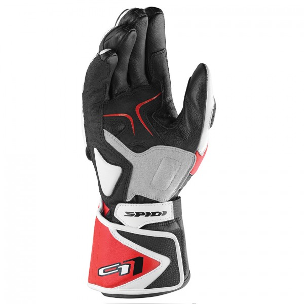 Spidi Gb Carbo 1 Leather Gloves Black & Red