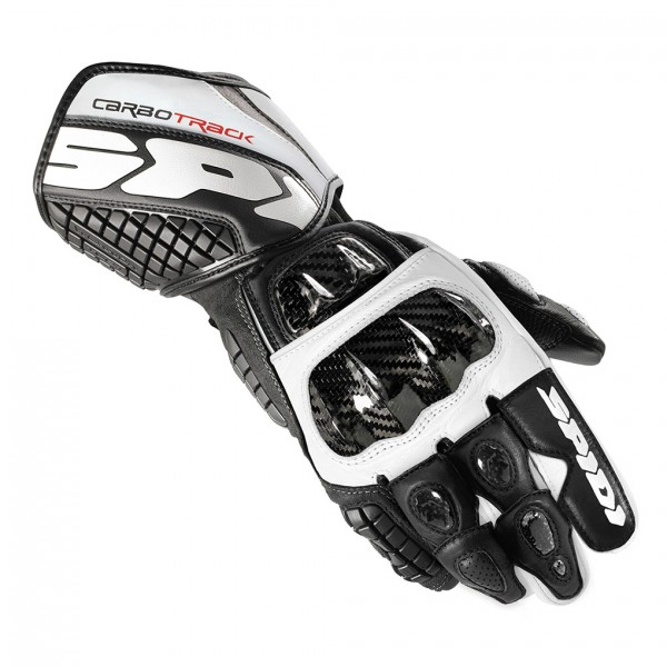 Spidi Gb Carbo Track Leather Gloves Black & White