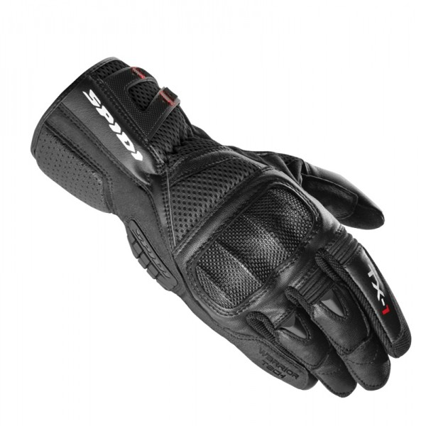 Spidi It Tx-1 Leather Gloves Black