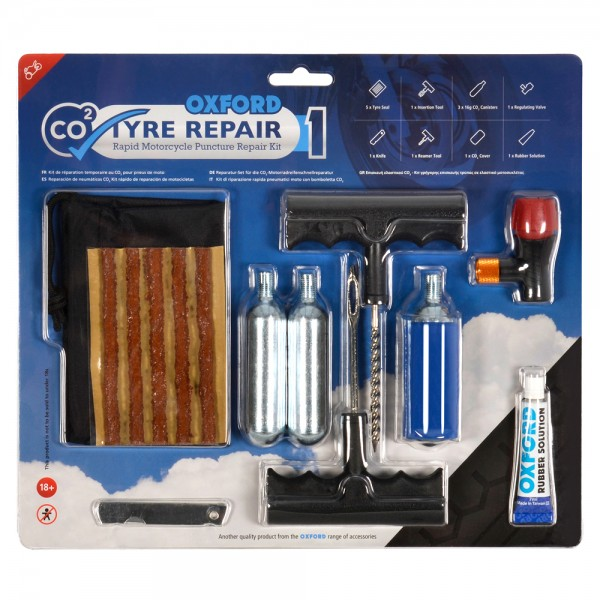 Oxford CO2yre Repair1 M?cycle Tyre Kit