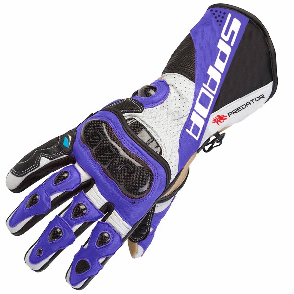 Spada Predator 2 Leather Gloves Black & Blue