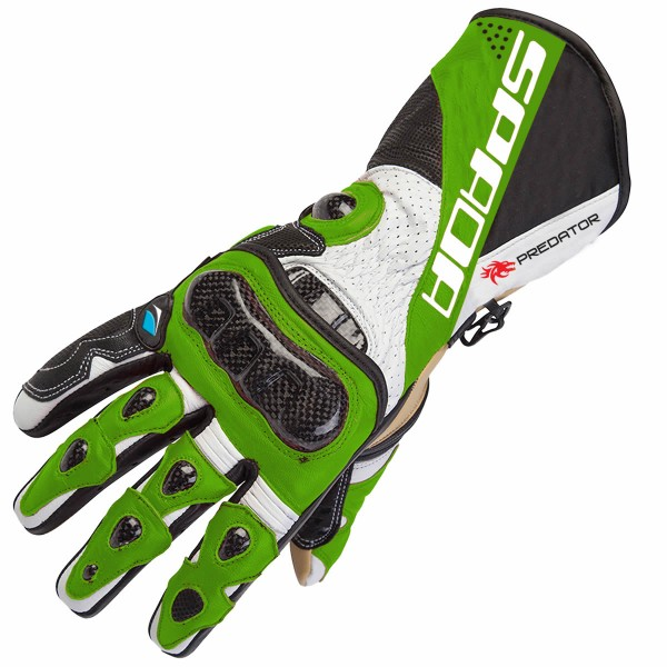 Spada Leather Gloves Predator Ii Black & Green