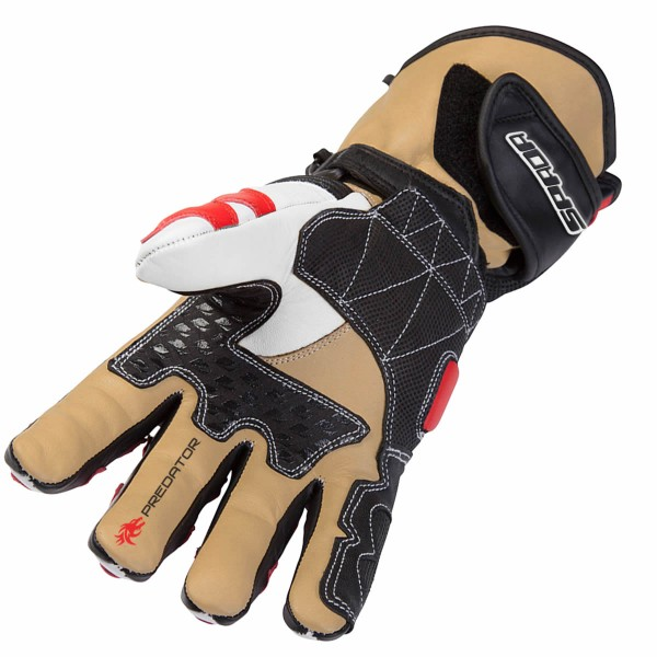 Spada Leather Gloves Predator Ii Black & Red