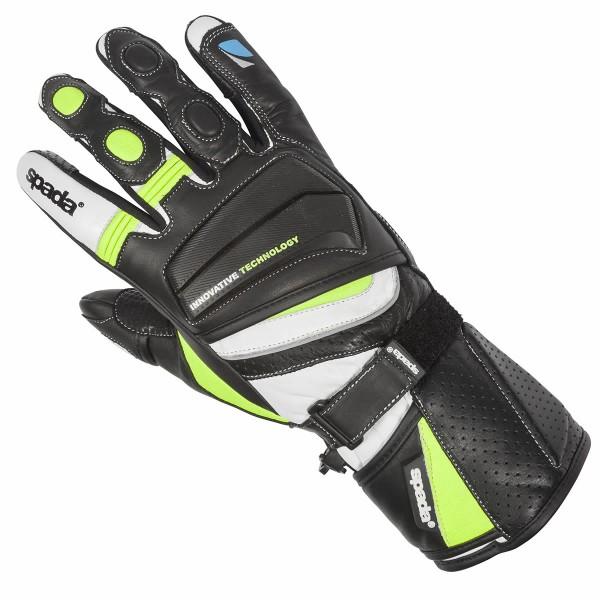Spada Latour Summer Leather Gloves Black & Flo
