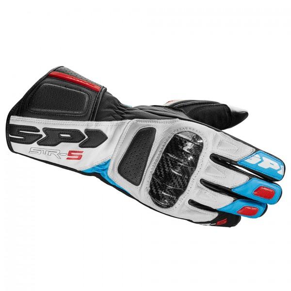 Spidi Gb Str 5 Gloves White Blue Red