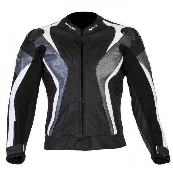 Spada Leather Jackets Curve Black & Grey & White
