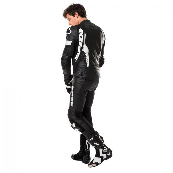 Spidi Gb Warrior Pro Leather Jacket Black & White