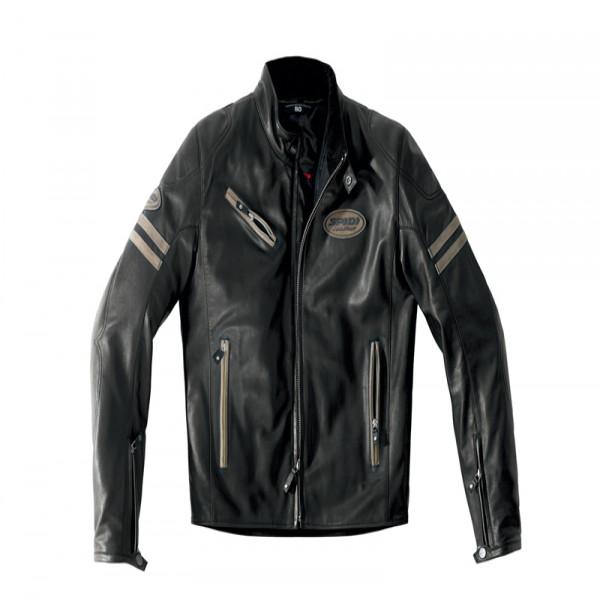 Spidi It Ace Leather Jacket Black & Brown