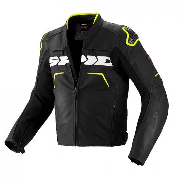 Spidi Gb Evo Rider Leather Jacket Yellow Flou & Black