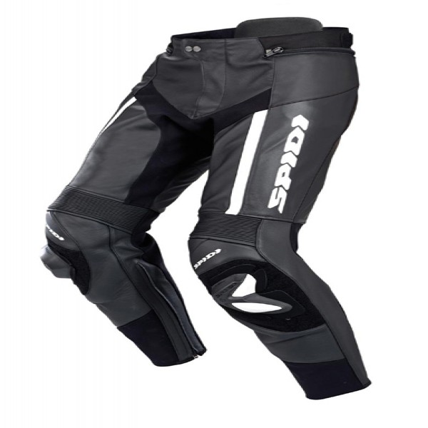 Spidi Gb Rr Pro Pants Leather Trousers Black & White