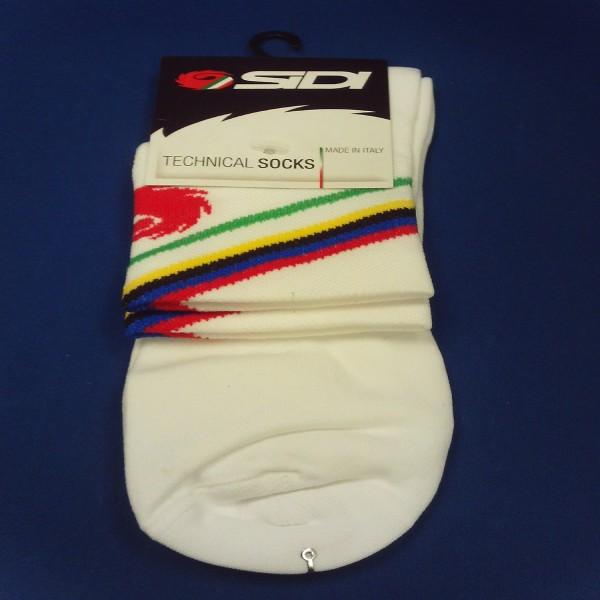 Sidi Socks Rainbow White