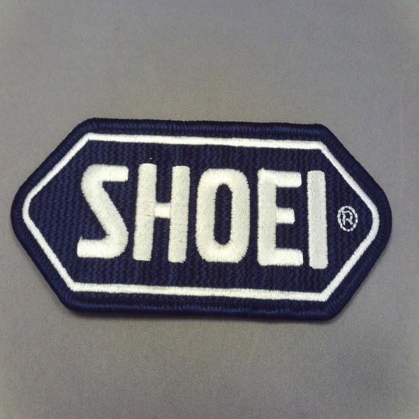 SHOEI Cloth-Sew On Badge D.blue Base