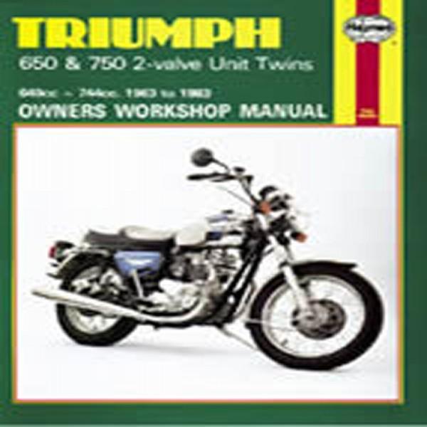 Haynes Manual 122 Triumph 650/750 Unit Twins