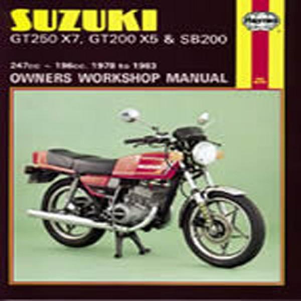 Haynes Manual 469 Suz Gt250X7/200X5/sb200