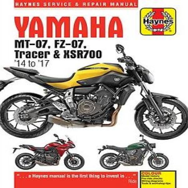 Haynes Manual 6385 Yam Mt07 Tracer + Xsr 700 2014-2017