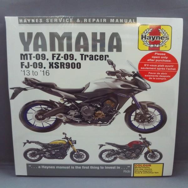 Haynes Manual 6333 Yam Mt09 Tracer + Xsr 900 2013-2016