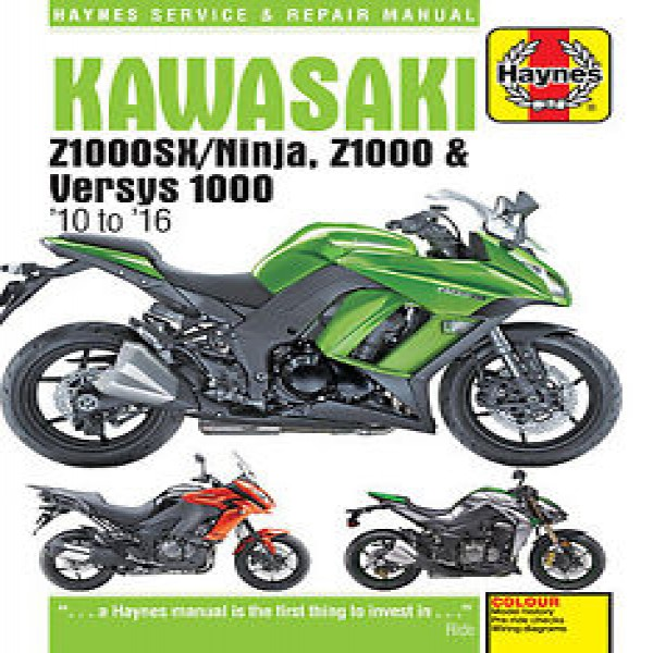 Haynes Manual Kaw Z1000/1000Sx/versys 10-16