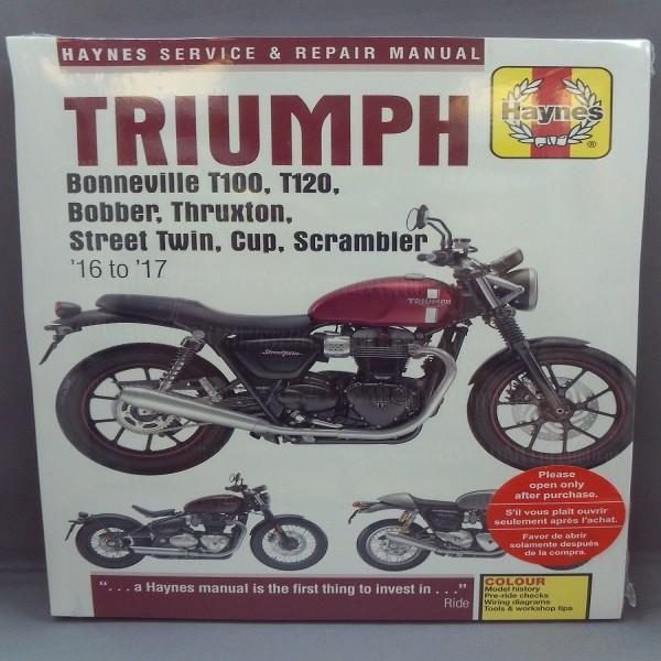 Haynes Manual  Tri Bonne T100 17/ Str Twin 16-17 Bobber 1200/17