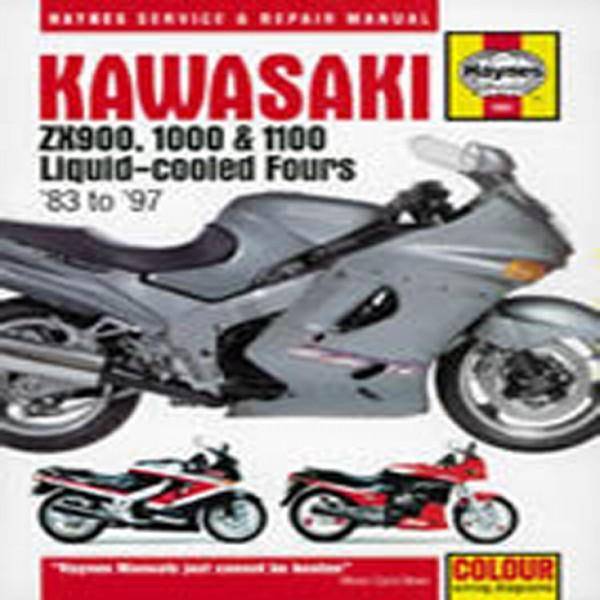 Haynes Manual 1681 Kaw Zx900,1000 & 1100