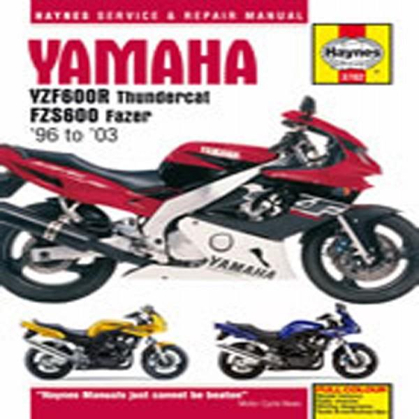 Haynes Manual 3702 Yam Yzf600R T-Cat & Fzs600 Fazer (96-03)-S