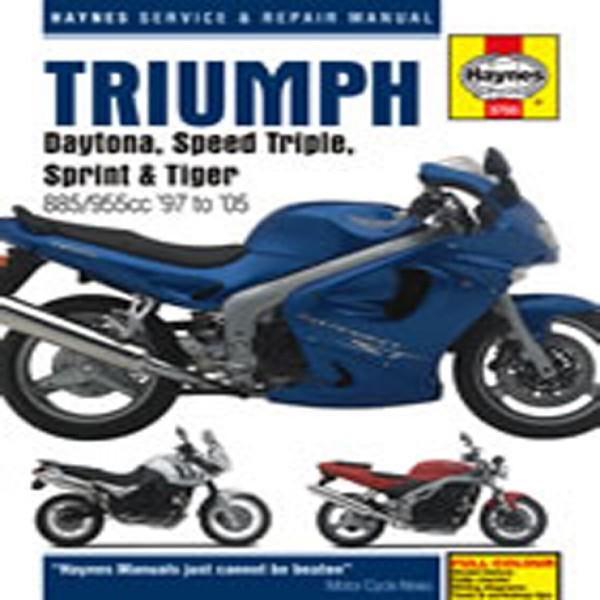Haynes Manual 3755 Tri Fuel Injected Triples 97-05