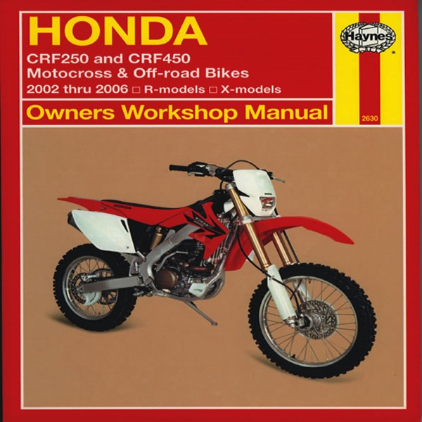 Haynes Manual 2630 Hon Crf250 & Crf450 02-06