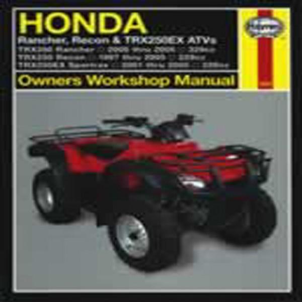 Haynes Manual 2553 Hon Atv+T9811 Rancher, Recon & Trx250Ex