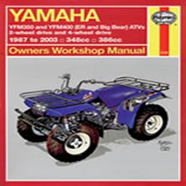 Haynes Manual 2126 Yam Atv Yfm350 & Yfm400 (Er And Big Bear) 87-09