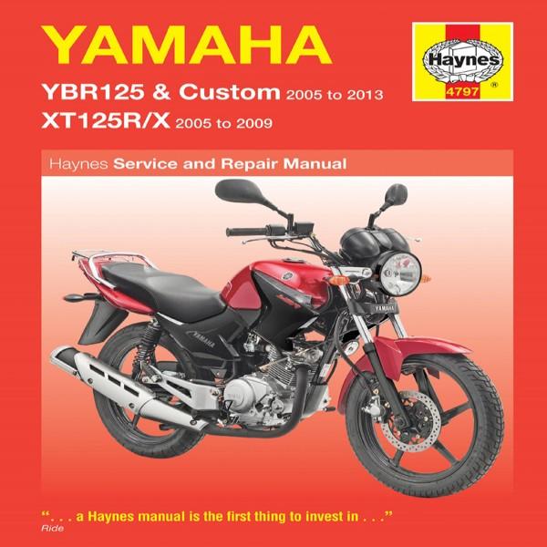 Haynes Manual 4797 Yamaha Ybr125 & Xt125R/x 05-08