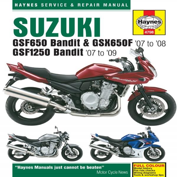 Haynes Manual 4798 Suzuki Gsf650 & 1250 Bandit 07 - On