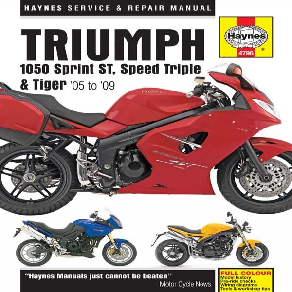 Haynes Manual 4796 Triumph 1050 St, Speed Triple & Tiger 05-09