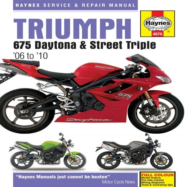 Haynes Manual 4876 Triumph 675 (06-10)