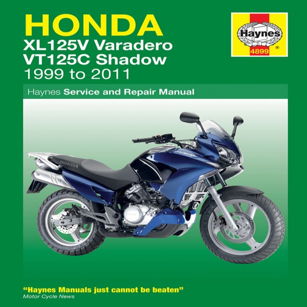 Haynes Manual 4899 Hon Xl125V & Vt125C 99-11