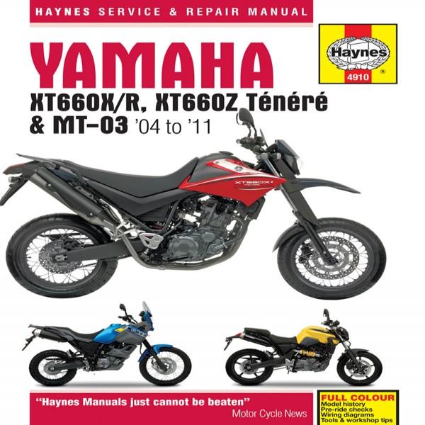 Haynes Manual 4910 Yamaha Xt660 & Mt-03 (04-11)