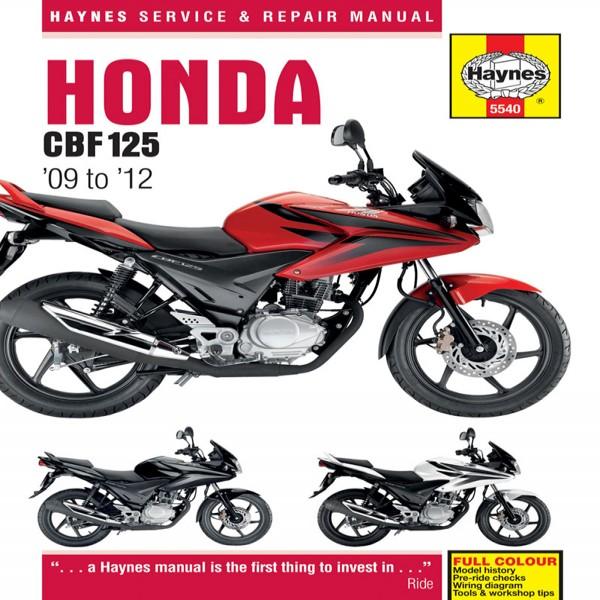 Haynes Manual 5540 Honda Cbf125  (09-12)