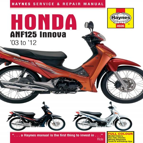 Haynes Manual 4926 Honda Anf125 Innova Scooter (03-11)