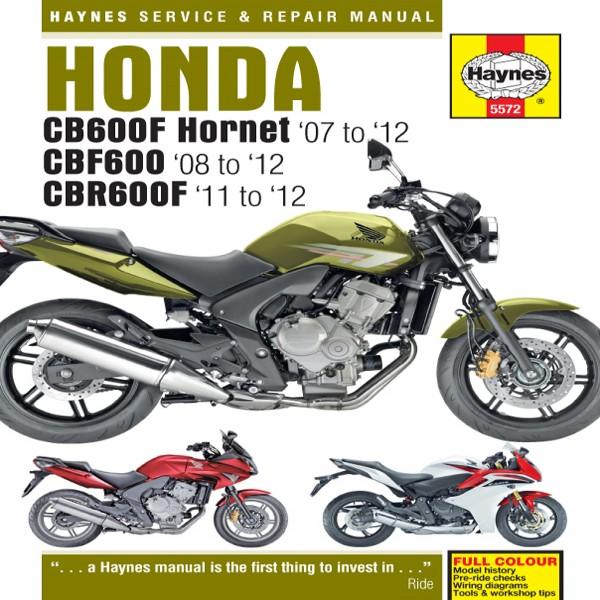 Haynes Manual 5572 Honda Cb600 & Cbr600F (07-12)