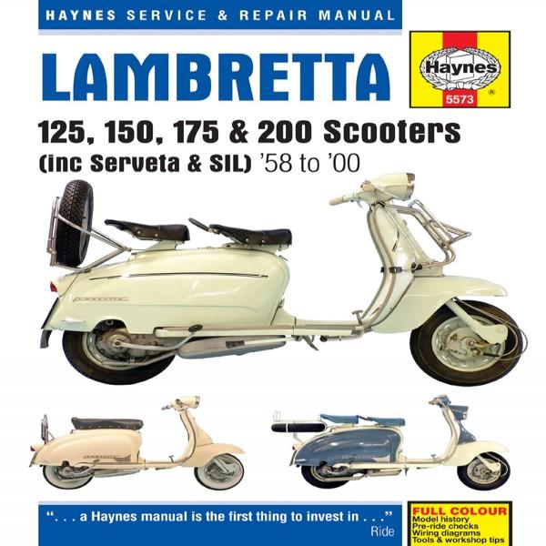 Haynes Manual 5573 Lambretta 125,150,175 & 200 (58-00)