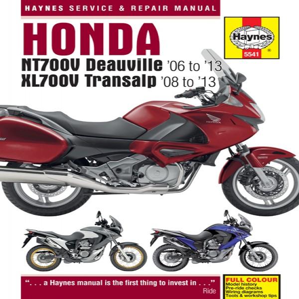 Haynes Manual 5541 Honda Nt700 D/v & Transalp 06-13