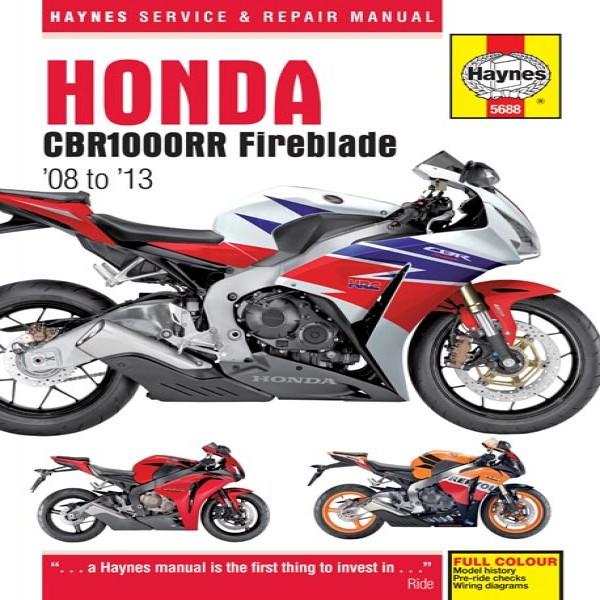 Haynes Manual 5688 Honda Cbr1000Rr Fireblade 08-13