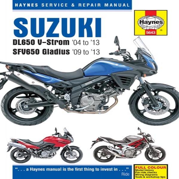 Manual Manual 5643 Suzuki Dl650/sfv650 04/09-13/gsf650/1250 Bandit 07