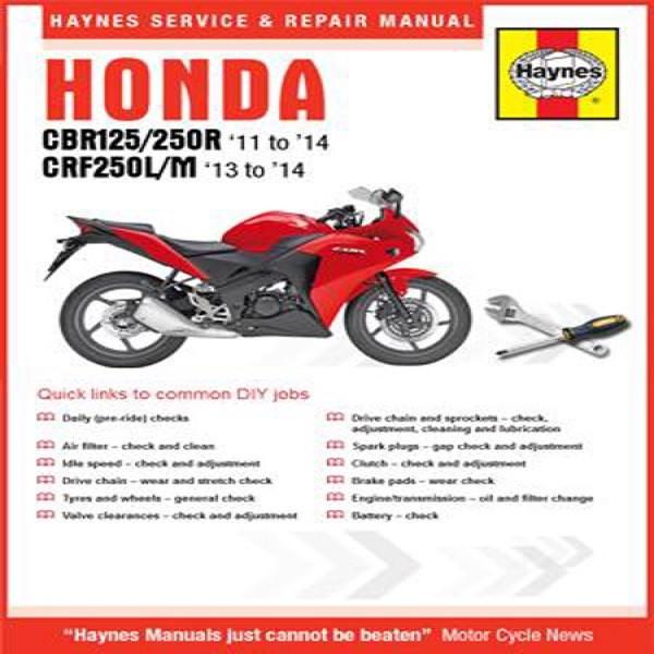 Haynes Manual 5919 Cbr125R/250R 11-14&crf250L/m 13-14