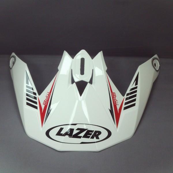 Lazer Peak Mx8 Carbon Tech White & Red