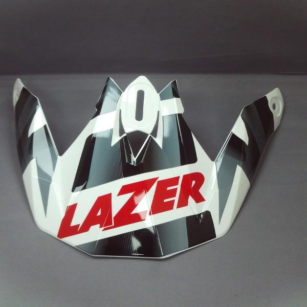 Lazer Peak Mx8 Geopop White & Black & Red
