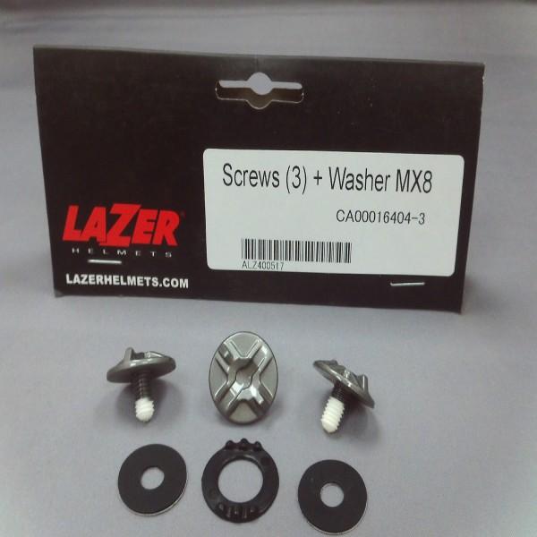 Lazer Peak Screws-Mx8 (3 Screws + Washers)