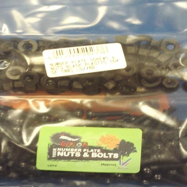 Number Plate Screws Plastic - BOX Of 100 Black